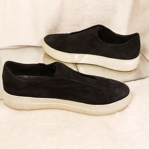 J/Slides NYC Starr Suede Leather Slip-on Loafers